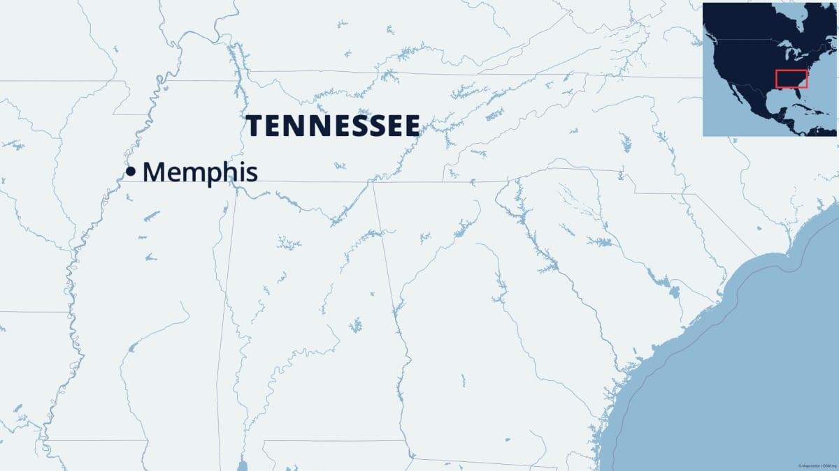 Tennesseen kartta.