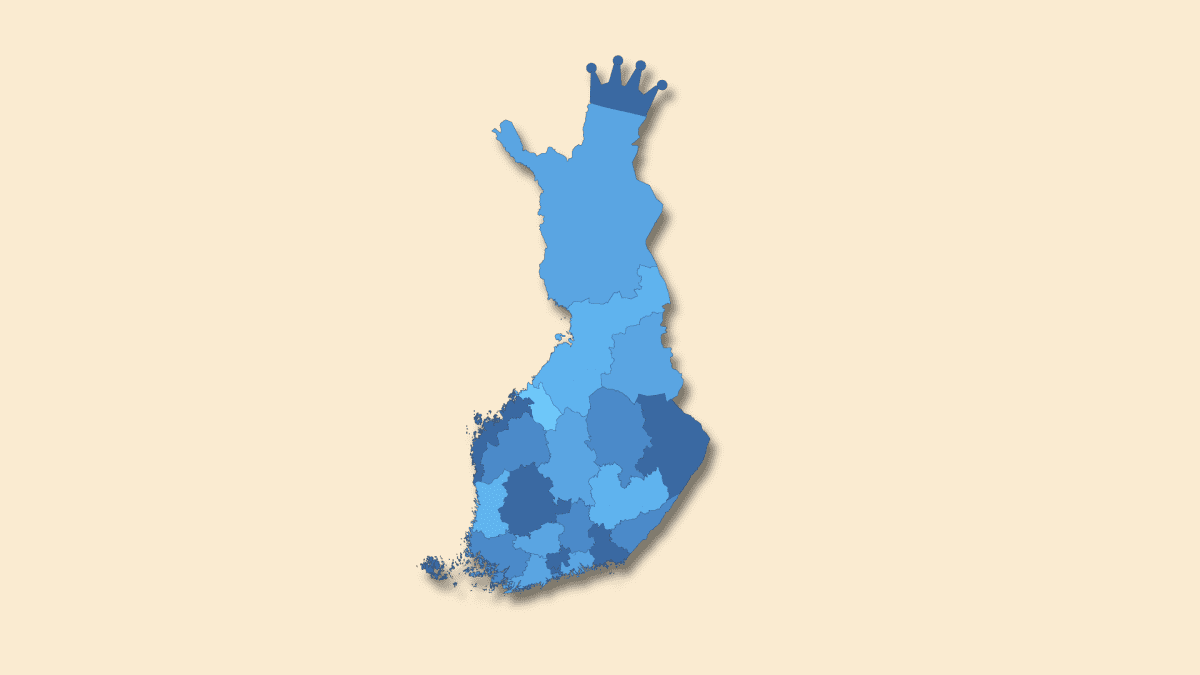 Hyvinvointialueet Suomen kartalla.
