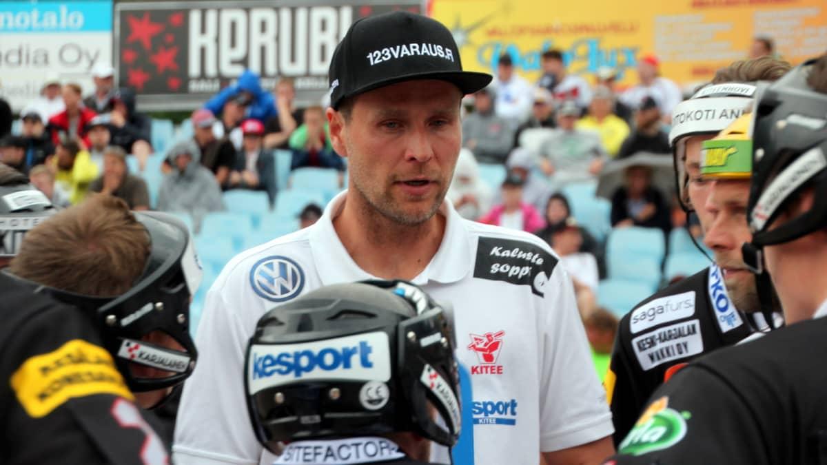 Kiteen Pallon pelinjohtaja Mikko Huotari.