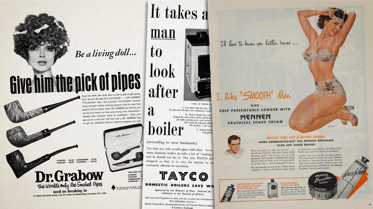 Vanhoja mainoksia, joissa stereotypioilla on keskeinen osa.