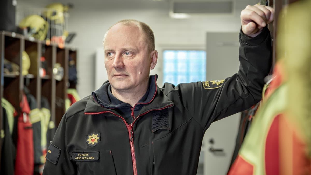 Palomies Jarmo Arpiainen Keski-Suomen pelastuslaitos, Äänekosken paloasema.