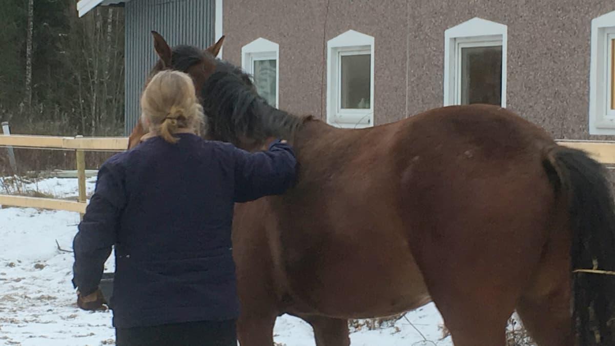 Mäntsäläläinen hevostalliyrittäjä Tiina Ahlqvist