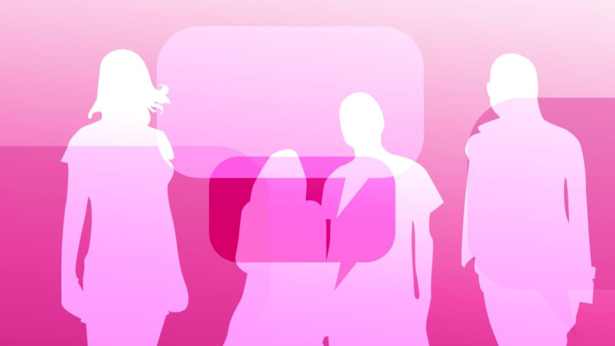 neljä anonyymia ihmistä