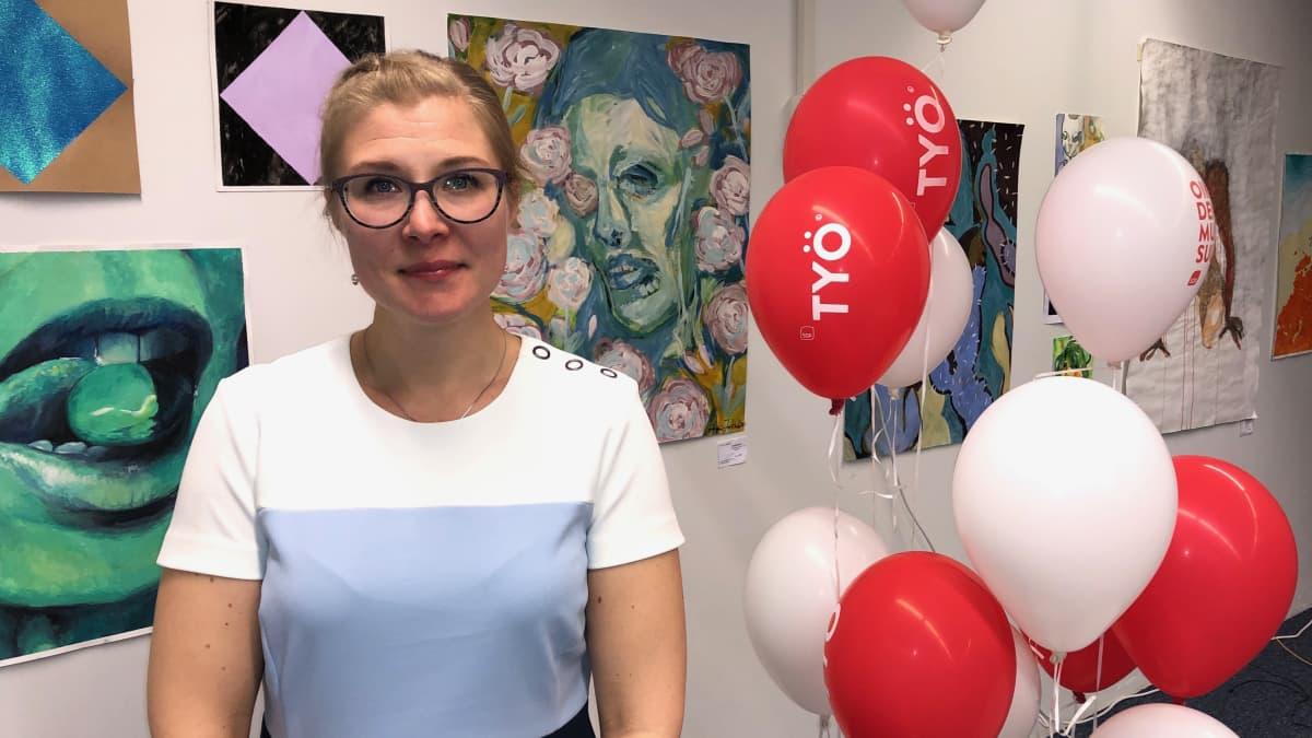 Imatran kaupunginvaltuuston puheenjohtaja, eduskuntavaalien ehdokas Niina Malm, SDP.
