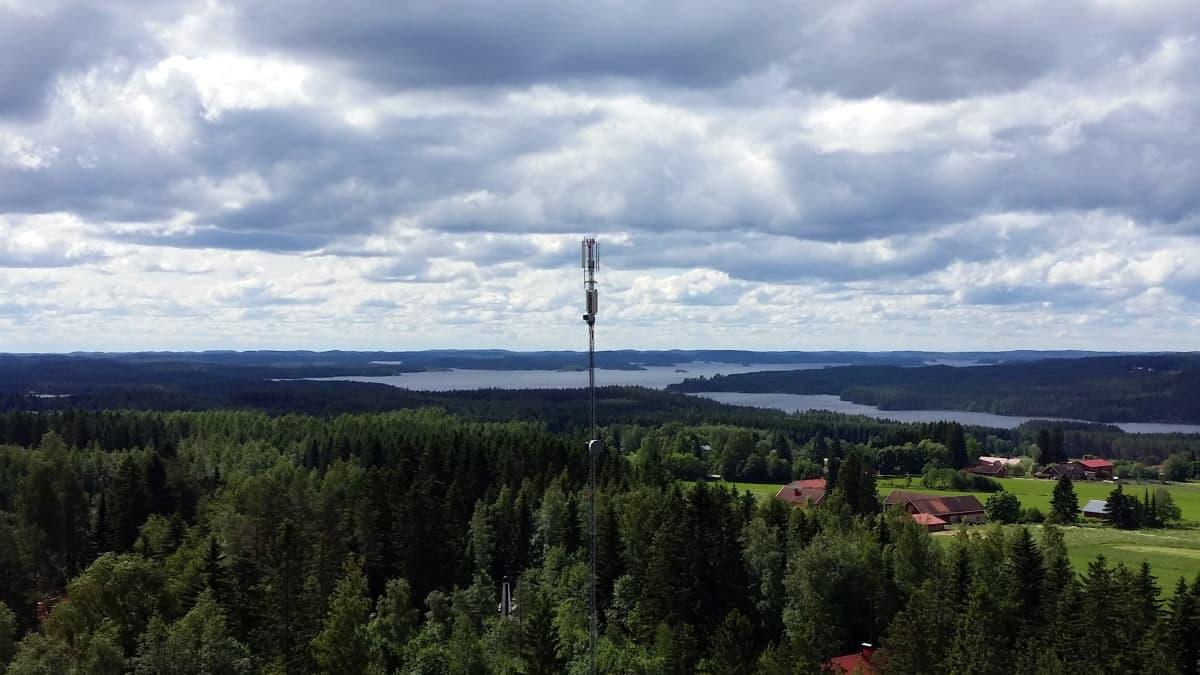 Telemasto Koikkalan kylässä Juvalla.