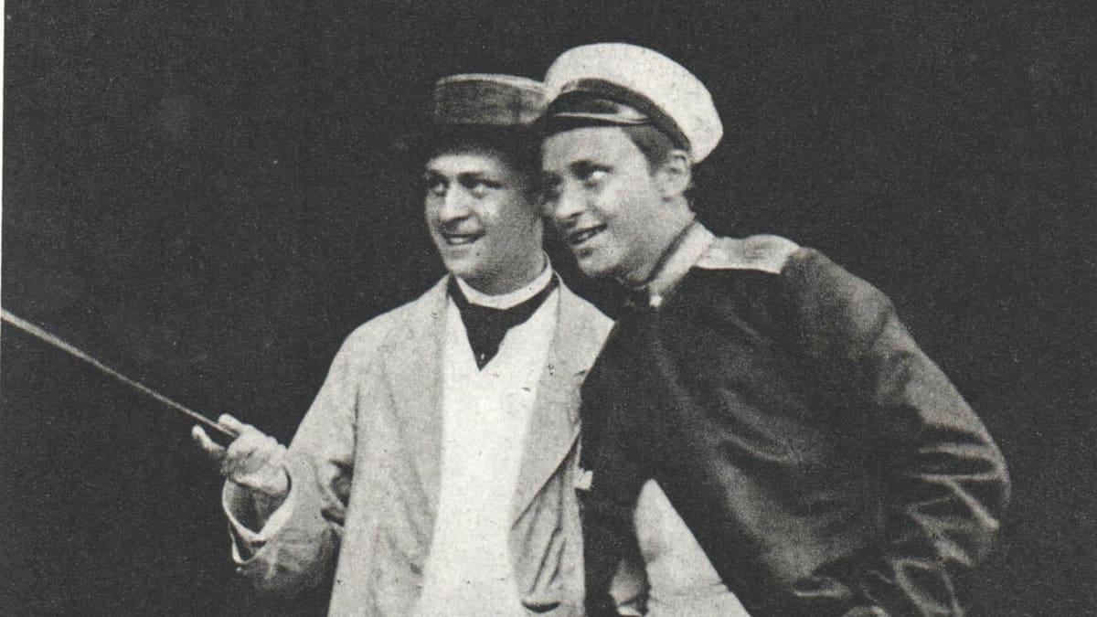 Carl Gustaf Emil Mannerheim nuorena Calle-veljensä kanssa.
