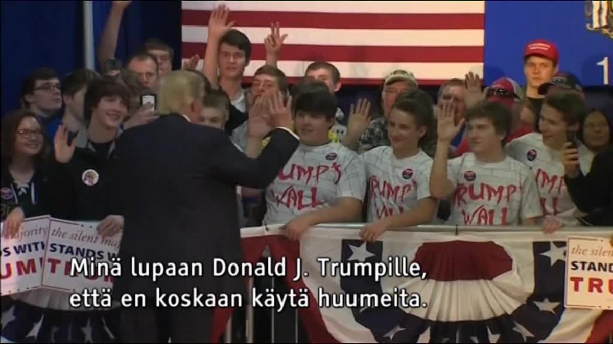 Uutisvideot: Trump laittoi nuoret vannomaan päihteiden vastaisen valan