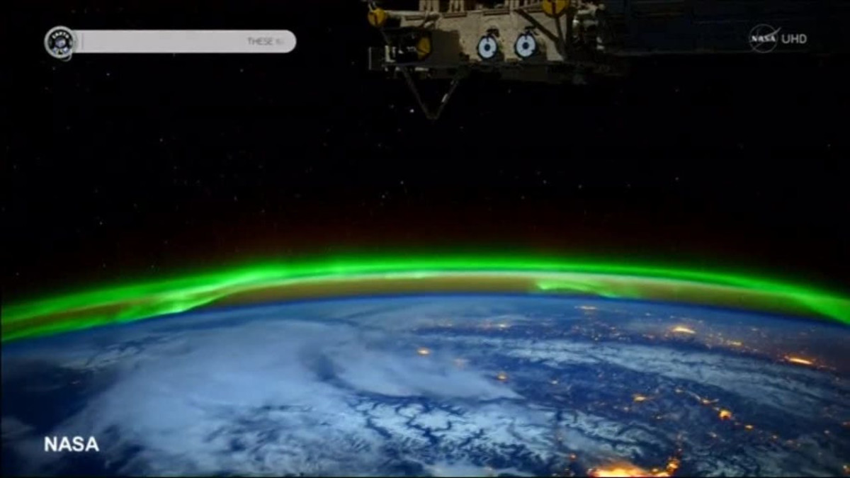 Uutisvideot: Revontulet näkyvät myös avaruudesta
