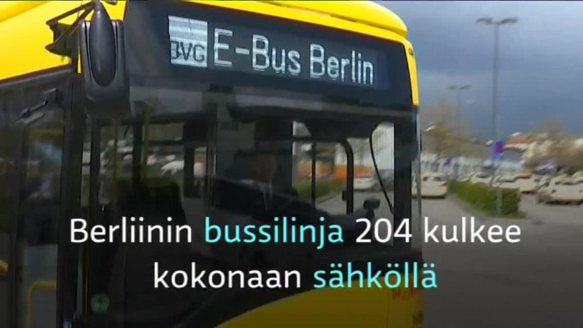 Uutisvideot: Sähköbussi ladataan ilman kaapelia