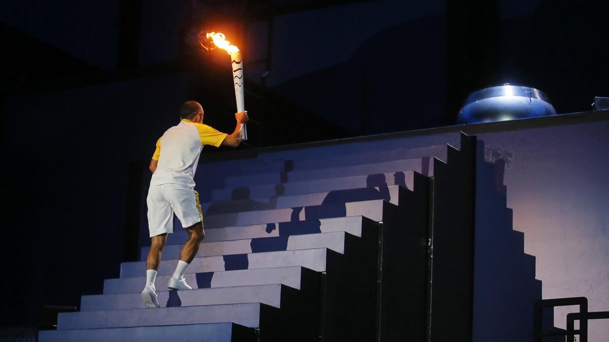 Rion olympialaiset: Olympiatulen sytytys loisti tunnelmaa