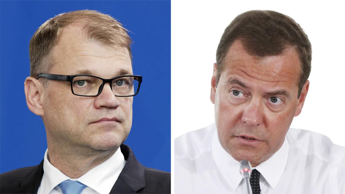 Suomen ja Venäjän pääministerien tiedotustilaisuus