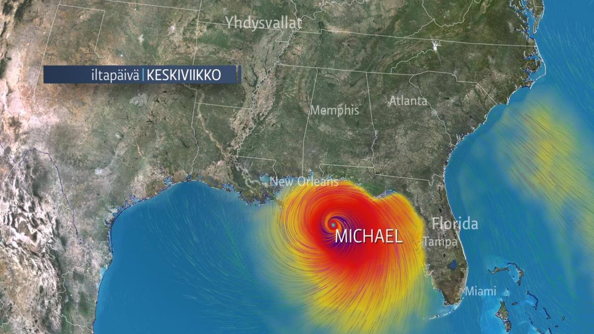 Hurrikaani Michael iskee Floridaan