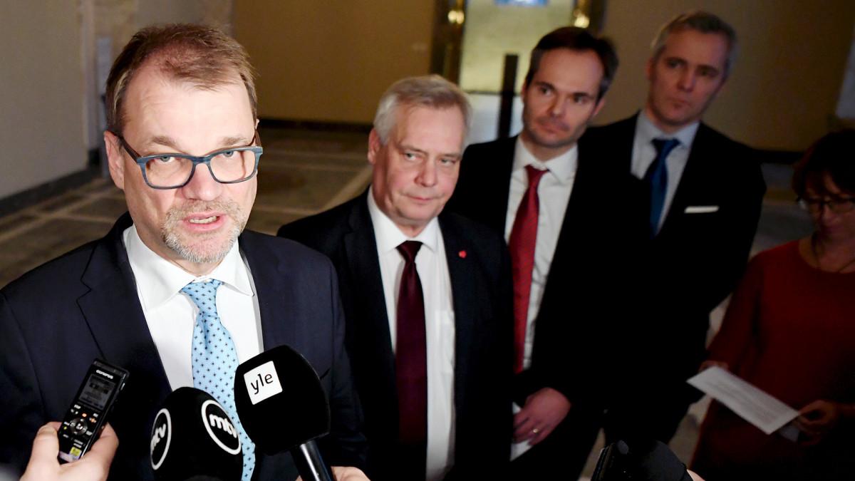 Pääministeri kommentoi puoluejohtajien ilmastotapaamista