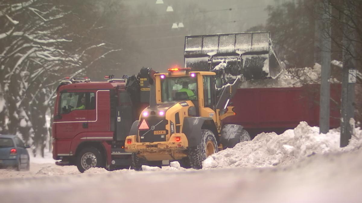Helsinkiin on satanut paljon lunta