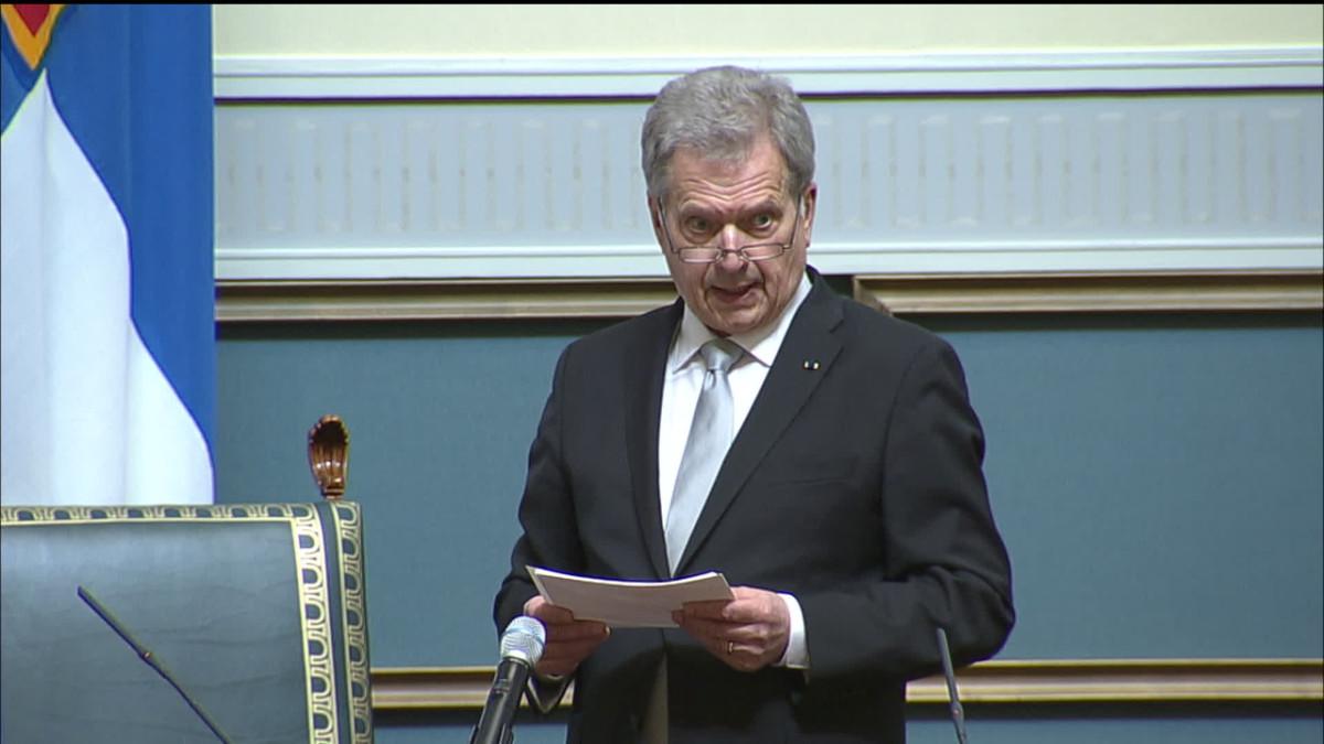 Presidentti Niinistön puhe valtiopäivien avajaisissa 25.4.2019
