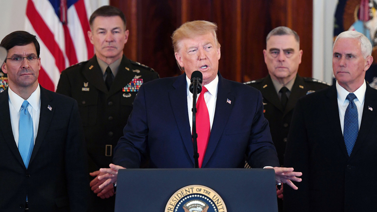 Trumpin tiedotustilaisuus Iran-konfliktista
