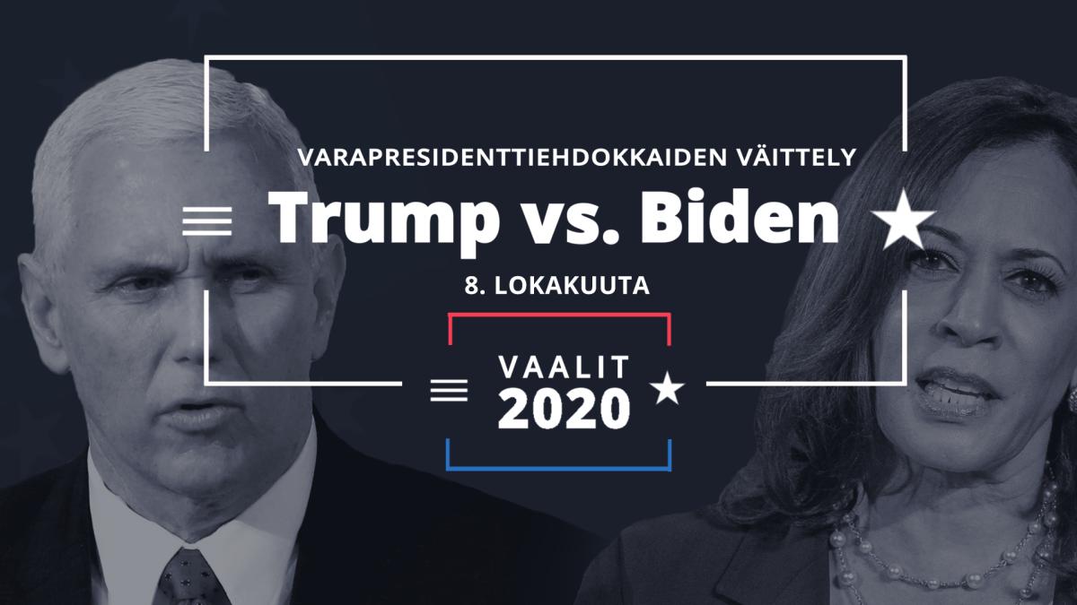 Varapresidenttiehdokkaiden vaaliväittely suomeksi tekstitettynä