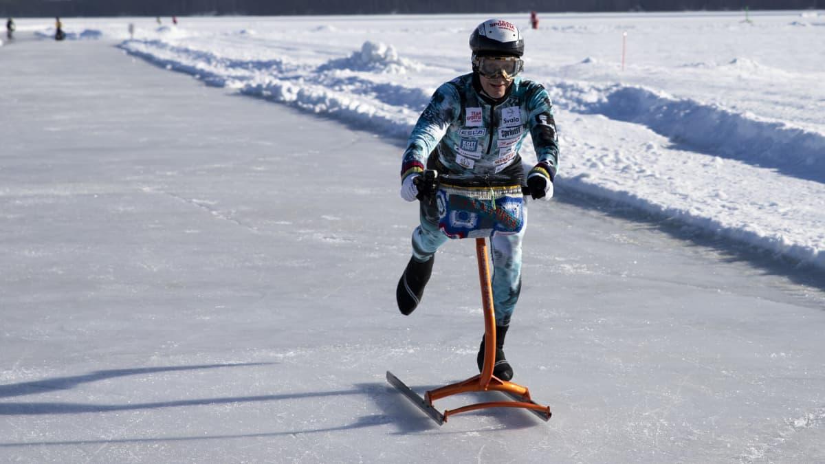24 tuntia ja 329 kilometriä - Markku Levänen potkukelkkaili ennätysmatkan