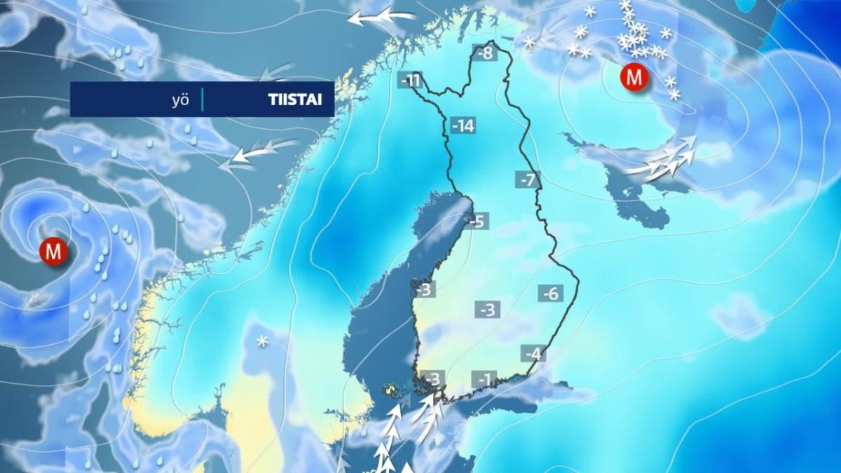 Suomeen saapuu torstaina uusi myräkkä