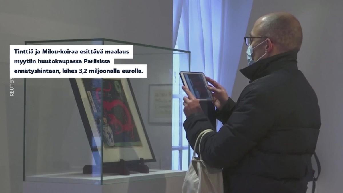 Tintti-maalaus myytiin miljoonilla
