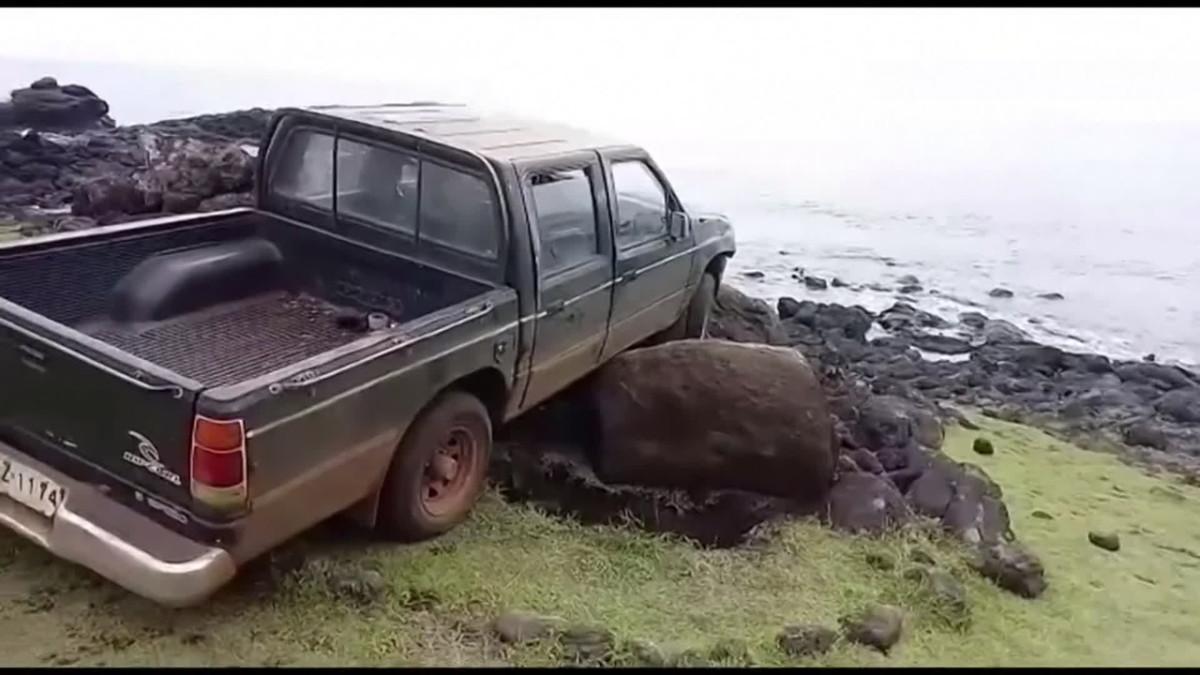 Myyttinen kivipatsas tuhoutui auto-onnettomuudessa Pääsiäissaarilla
