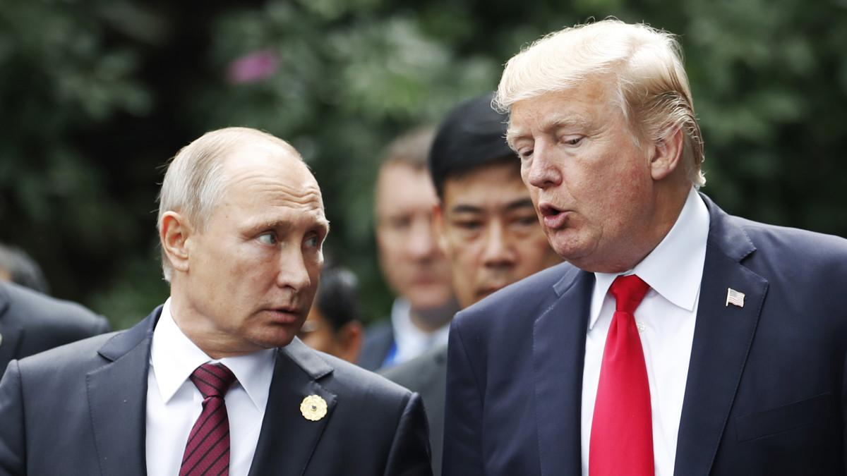 Vladimir Putin ja Donald J. Trump.