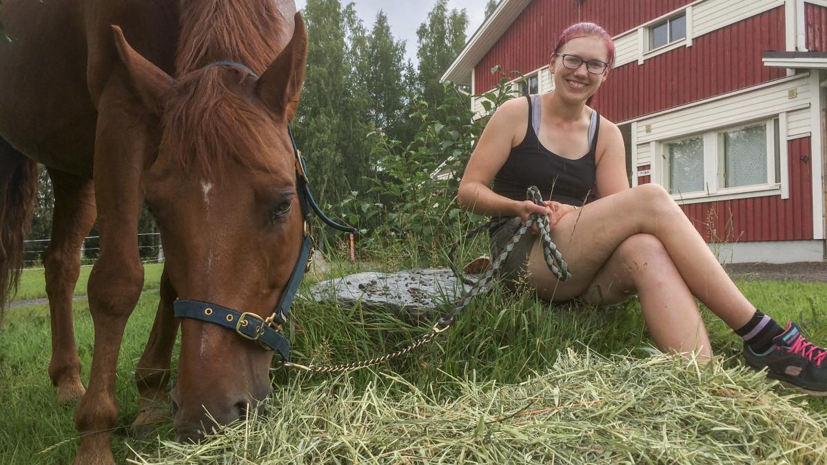 Ansa Immonen ja hevonen