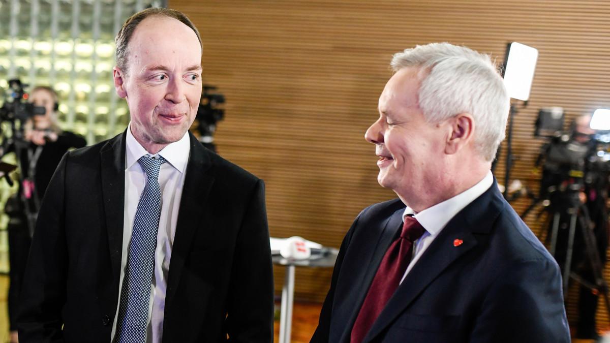 Jussi Halla-aho ja Antti Rinne