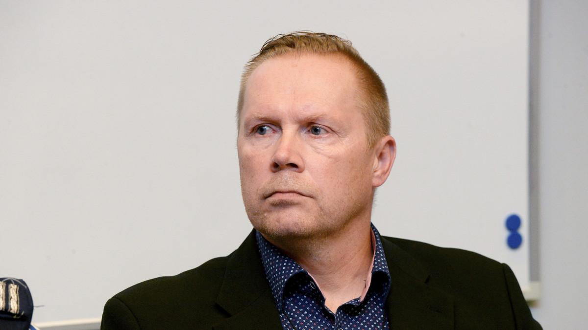Keskusrikospoliisin rikoskomisario Kimmo Huhta-aho tiedotustilaisuudessa Vantaalla 25. elokuuta.