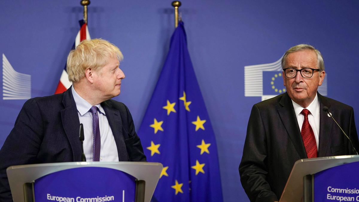 Jean-Claude Juncker ja Boris Johnson.