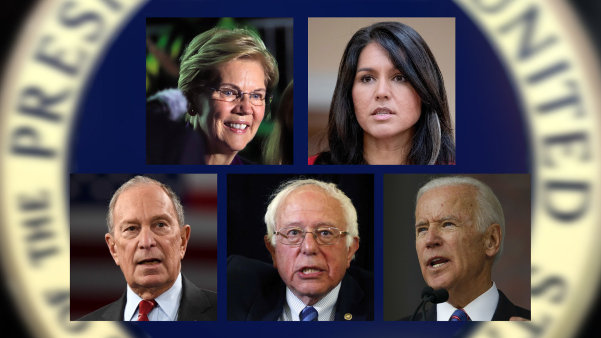 Ehdokasviisikko demokraattien esivaaleissa supertiistaina