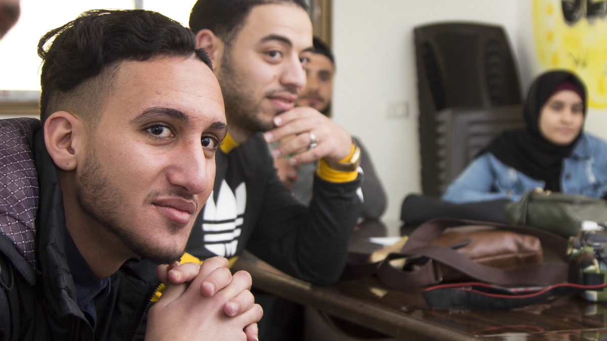 Abdallah AlQassab on englanninkielen opiskelija Gazassa.