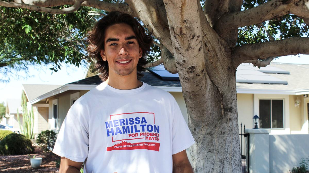 Jordan Conradson uskoo republikaanien pormestariehdokkaan Merissa Hamiltonin voittoon.
