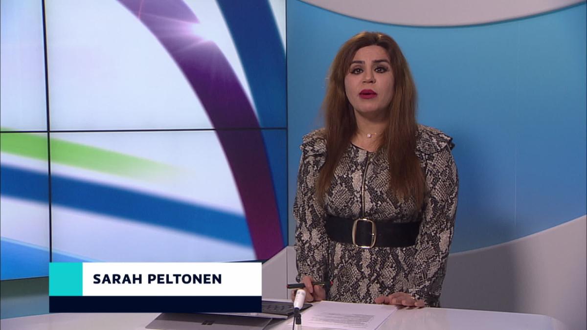 Sarah Peltonen uutistenlukija