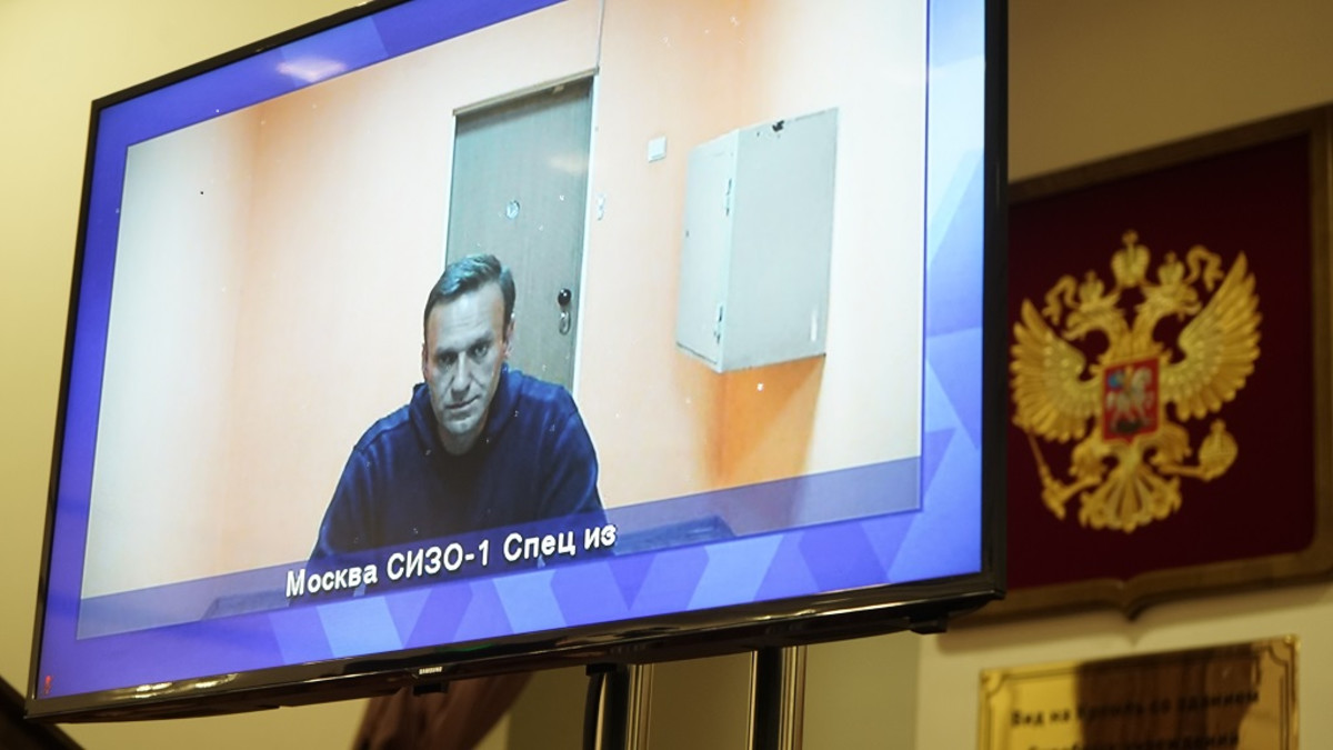 Aleksei Navalnyi osallistui oikeuden istuntoon videolinkin välityksellä.