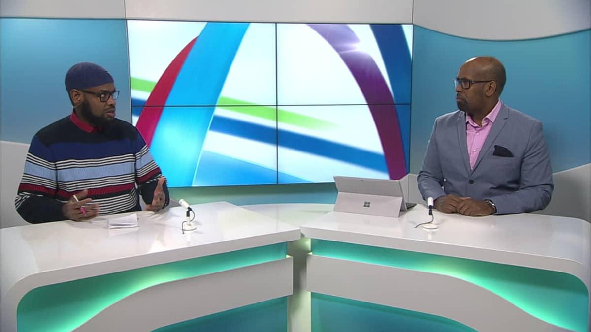 Shiiq Abdi Rizakh Sugulle ja toimittaja Wali Hashi