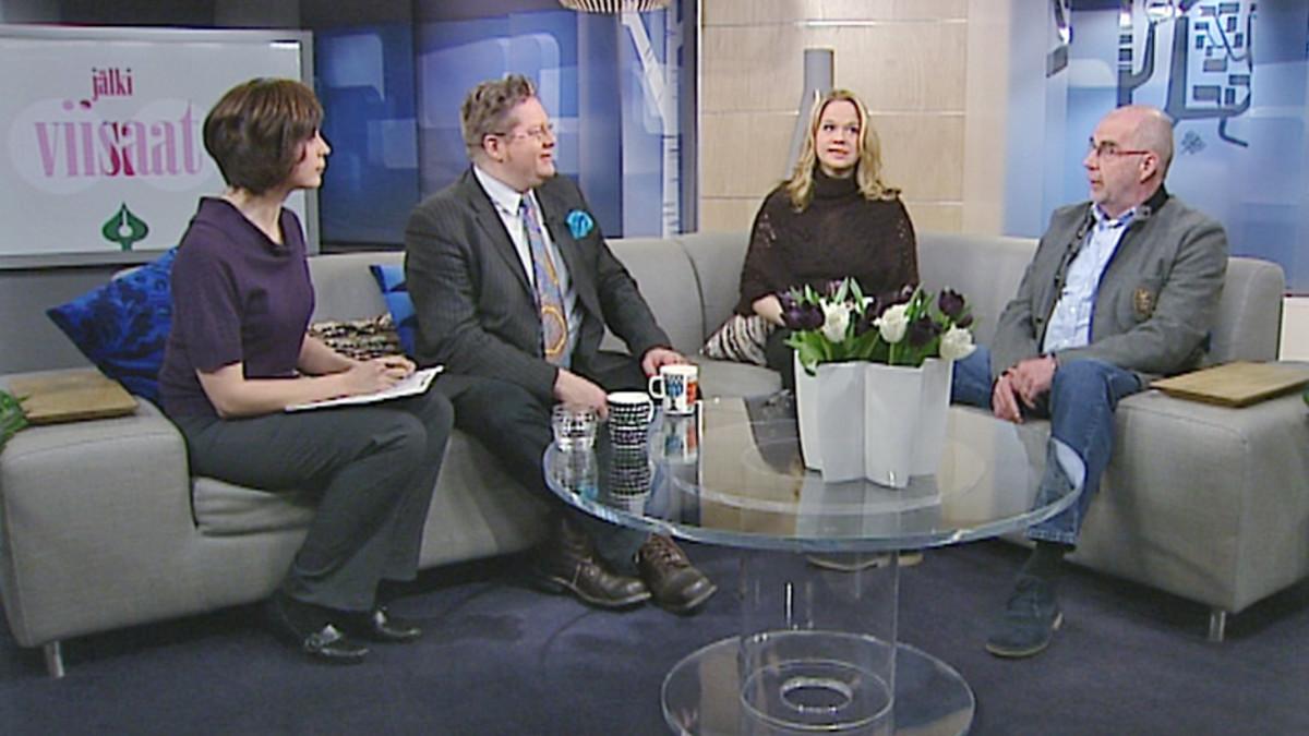 Aamu-tv:n Jälkiviisaissa keskustelivat Jan Erola, Anu Silfverberg ja Kalle Isokallio.