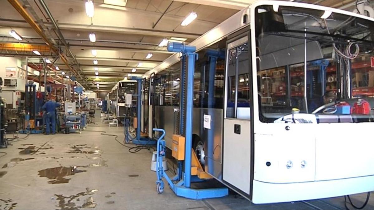 Kabus Oy bussitehdas Lahdessa.