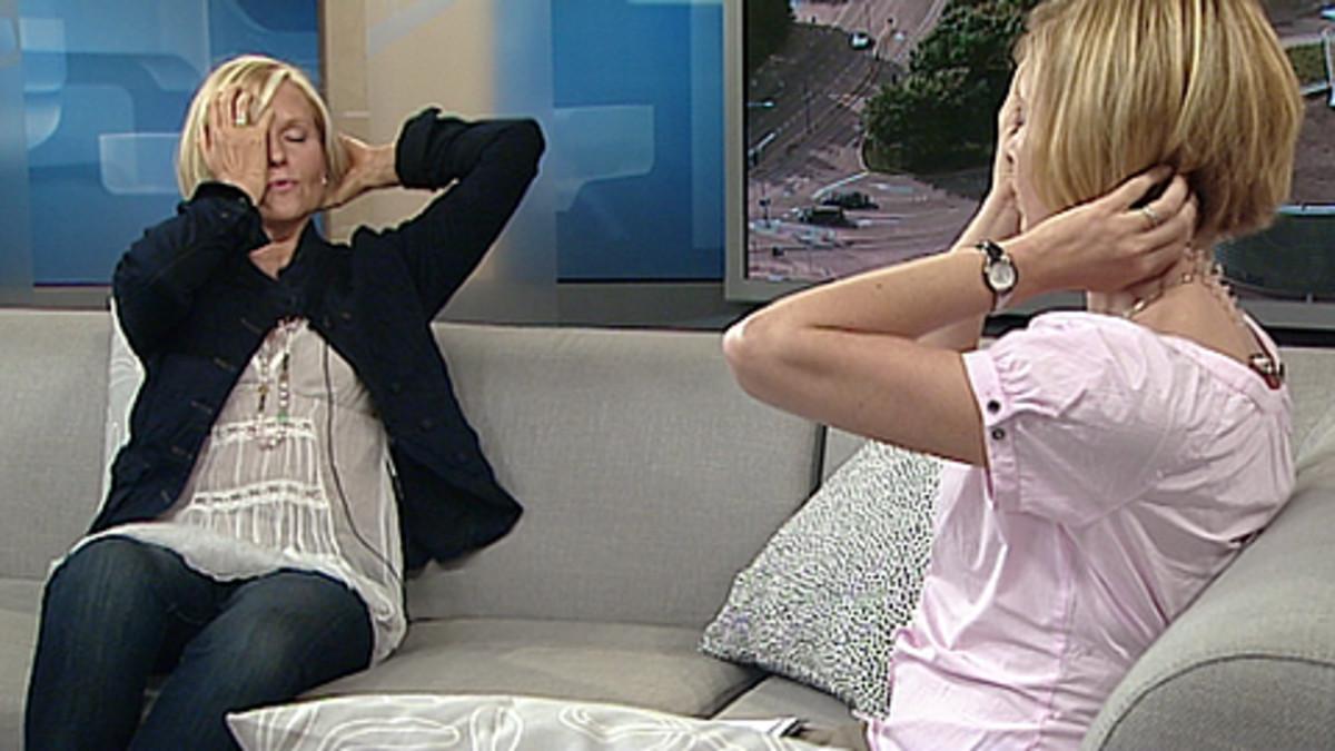 Method Putkiston kehittäjä Marja Putkisto Aamu-tv:n studiossa 9.6.2010.