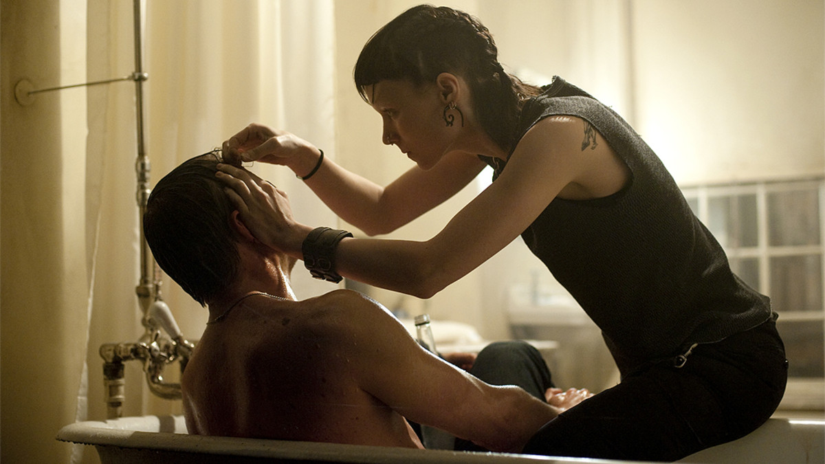 Daniel Craig ja Rooney Mara elokuvassa The Girl with the Dragon Tattoo.