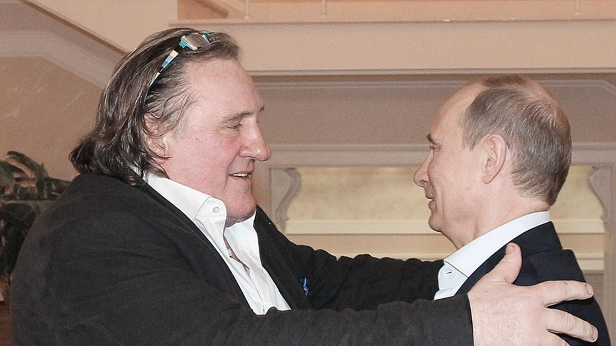 Gerard Depardieu ja Vladimir Putin.
