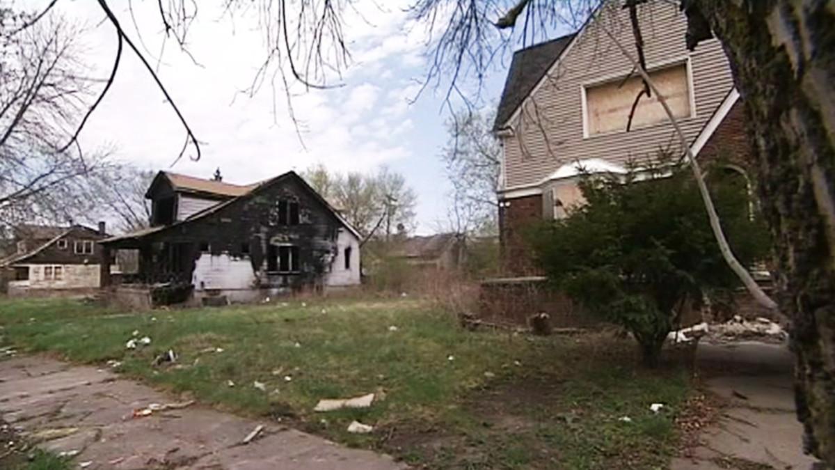 Hylättyjä taloja Detroitissa.