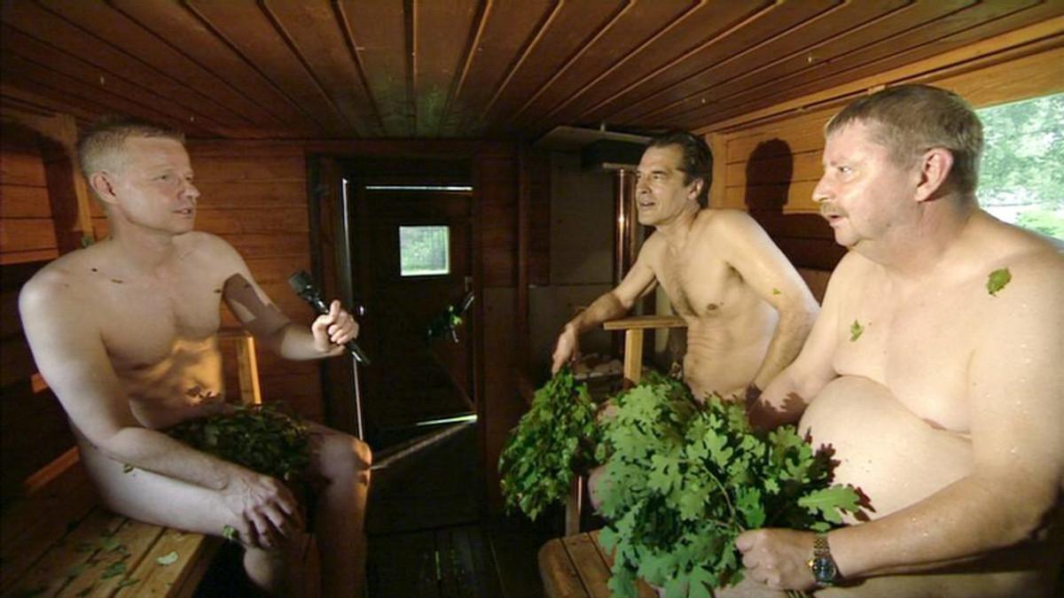 Haastattelu saunassa