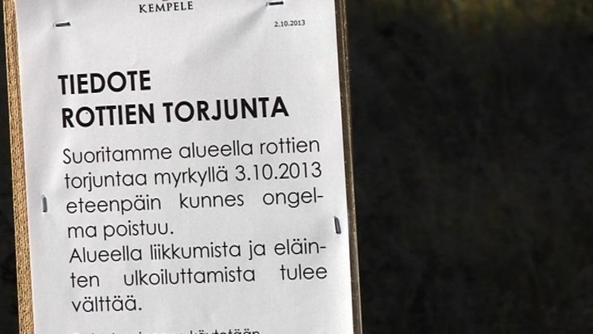 Rottatorjuntailmoitus Kempeleessä.
