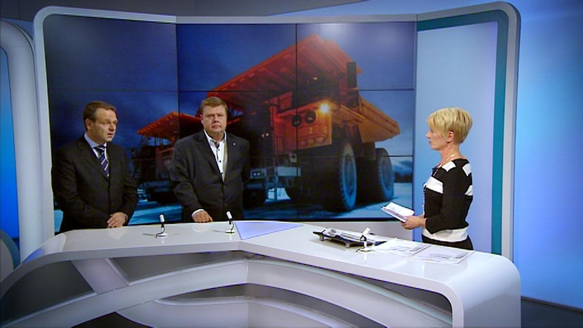 Marjo Rein haastatteli Yle Uutisten klo 20.30-lähetyksessä Jan Vapaavuorta ja Pekka Perää.