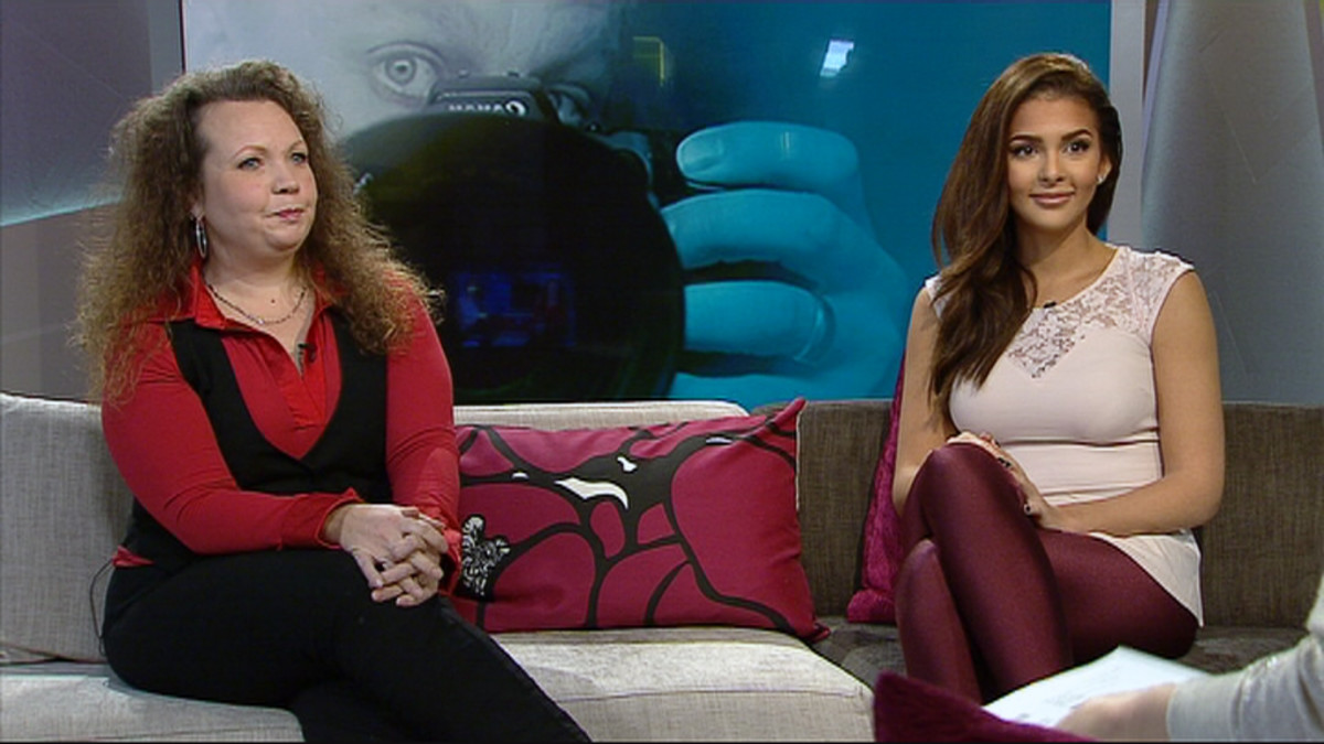 Psykologi Tarja Salokoski ja Miss Suomi 2012, malli Sara Chafak.