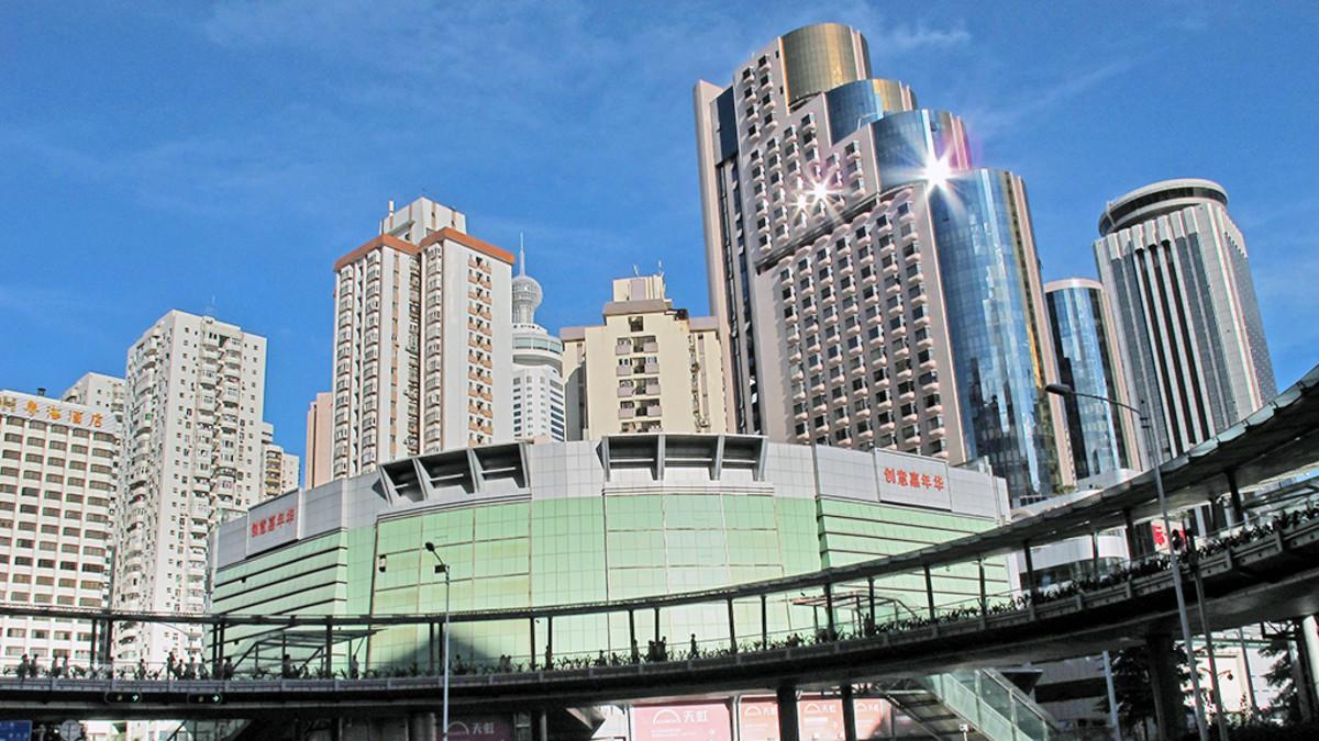 Shenzhen kaupunki Kiinassa.