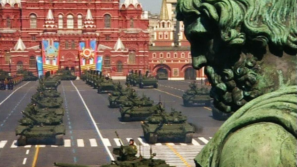Voiton päivän paraati Moskovassa.