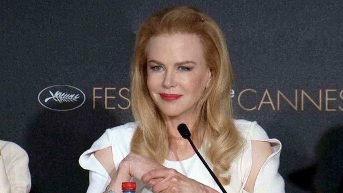 Nicole Kidman lehdistötilaisuudessa Cannesin elokuvajuhlilla.
