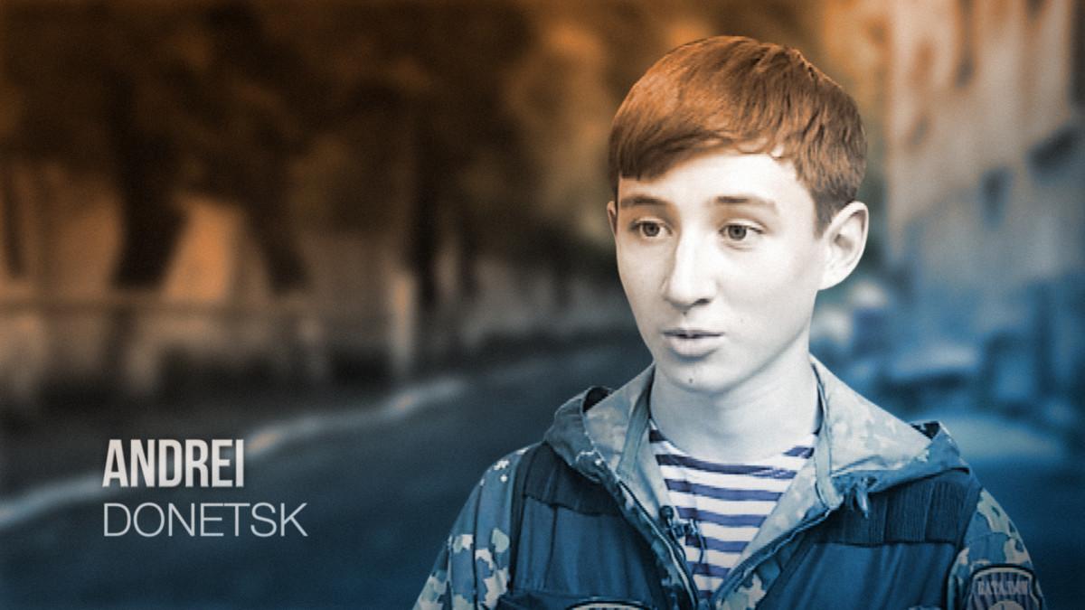 Nuoret ja rohkeat -sarjan päähenkilönä on 15-vuotias separatisti Andrei Donetskista